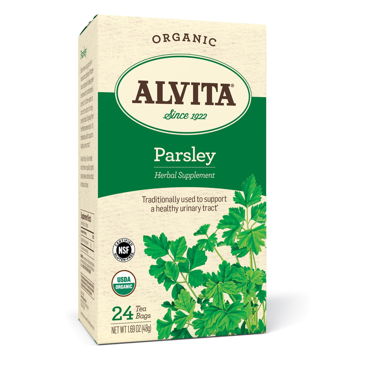 Alvita Organic Herbal Tea Caffeine Free Parsley 24 Tea Bags