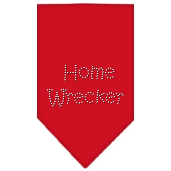 Home Wrecker Rhinestone Bandana Red Large