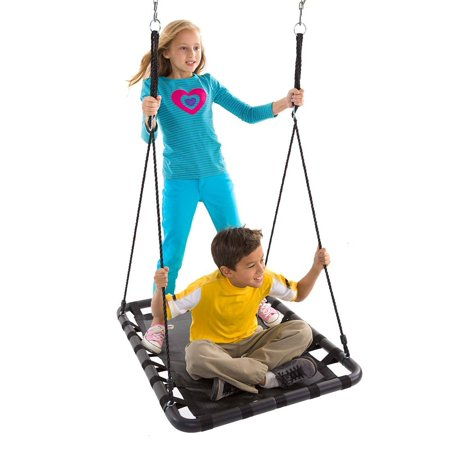 Kids Mega Mat Rectangular Outdoor Platform Tree Swing suitable for your child age 5 and above