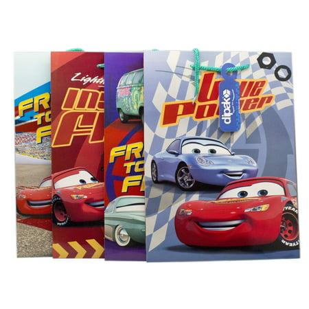 Disney Pixar's Cars Assorted Design/Color Medium Size Gift Bags