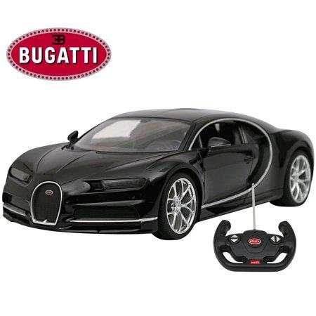 Licensed Bugatti Chiron RC Car 1/14 Scale Black | Rastar Radio Remote Control Toy Vehicle Sport Racing Car