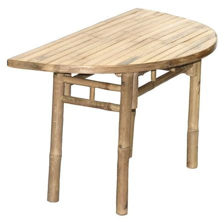 Half Moon Side Table - Bamboo54 Half Moon KD Shaped Table