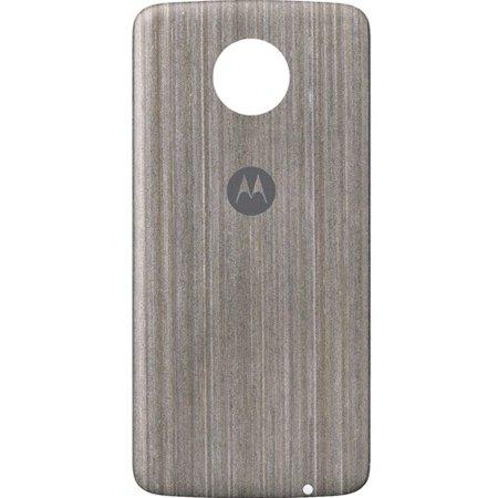 Refurbished - Motorola Moto Style Shell Case for Moto Z Family - Silver Oak Wood