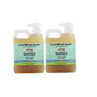california baby calming shampoo and body wash - hair, face, and body | gentle, fragrance free, allergy tested | dry, sensitive skin | 17.5 oz | 2 pack