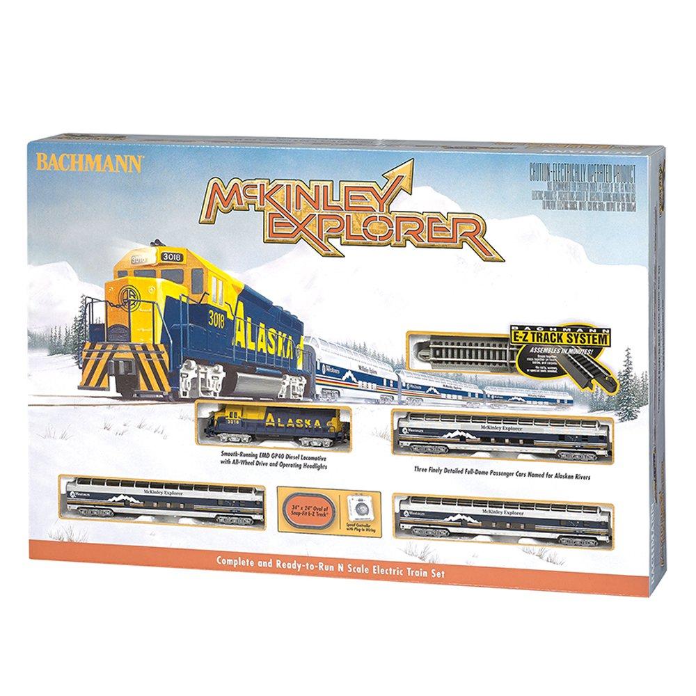 Bachmann Trains McKinley Explorer N Scale Locomotive and Passenger Car Train Set
