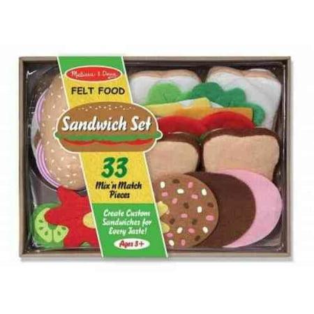 Felt Food Sandwich Set (Halloween Food Sandwiches)