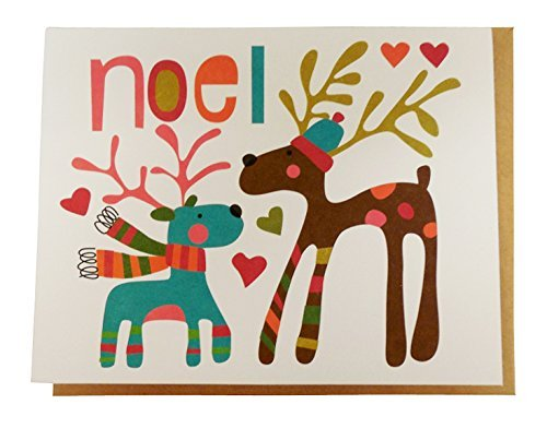 Reindeer Chorus Line The Gift Wrap Company Small Boxed Holiday Cards with Seals