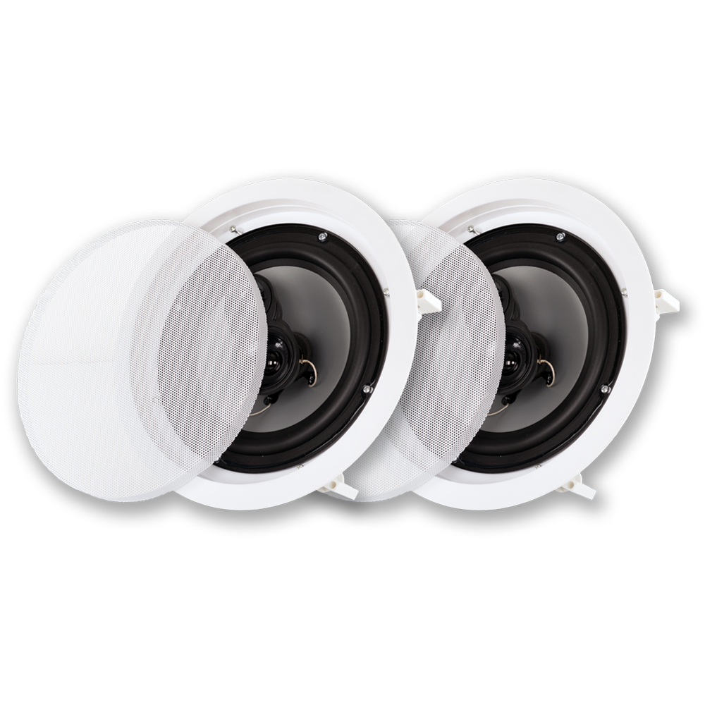 """Acoustic Audio CSic83 8"""" 3-Way Home Theater In-Wall/Ceiling Speaker Pair"""