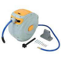 Anauto 15m Retractable Plastic Air Compressor Hose Reel with 1/4NPT-18 Interface,Air Compressor Hose Reel, Retractable Air Compressor Hose Reel