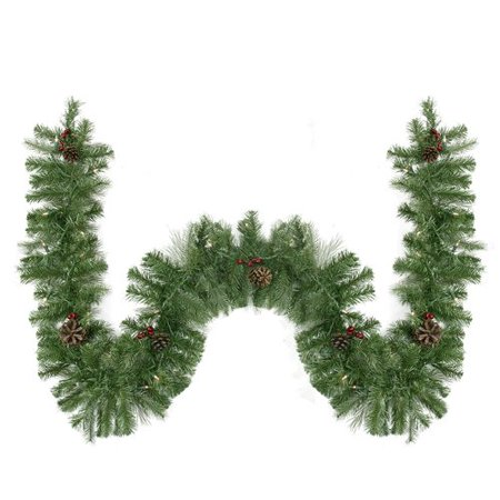 Northlight Seasonal Noble Fir Berries And Pine Cones Artificial Christmas Garland