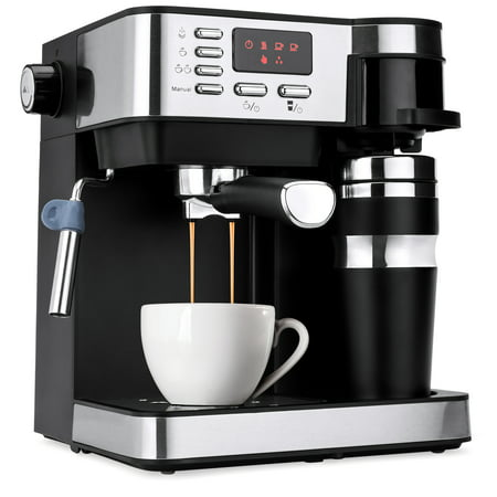Automatic Espresso Machine Reviews - Best Choice Products 3-in-1 15-Bar Espresso, Drip Coffee, and Cappuccino Latte Maker Machine w/ Steam Wand Milk Frother, Thermoblock System, Tumbler, Portafilters, LED Display