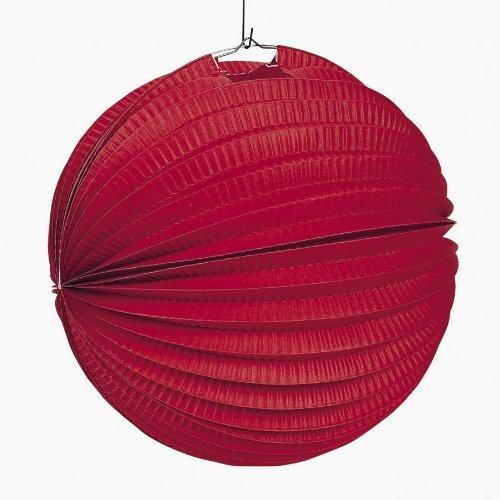 Small Red Paper Party Lanterns ( 1 dz)