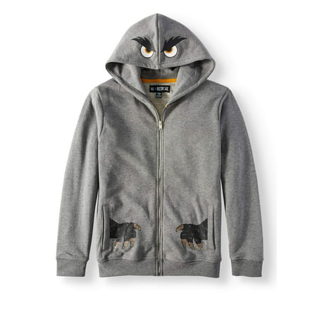 - No Retreat Boys' Monster Hoodie With Front and Back Graphics