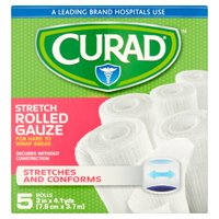 Curad Stretch Rolled Gauze, 5 count