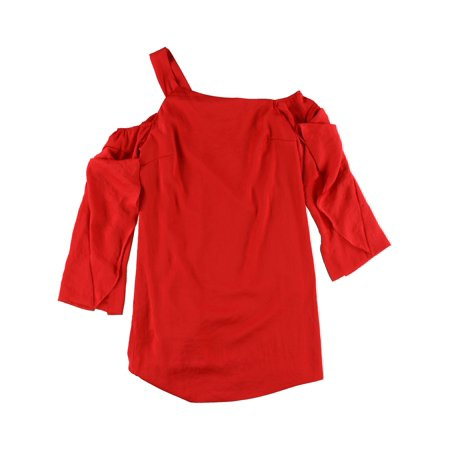 Rachel Roy Womens Ruffled One-Shoulder A-line Dress cherrytop 10 - image 1 de 1