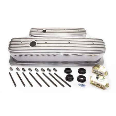 RACING POWER CO Aluminum Tall Valve Covers Small Block Chevy P/N R6191 98 Power Valve Cover