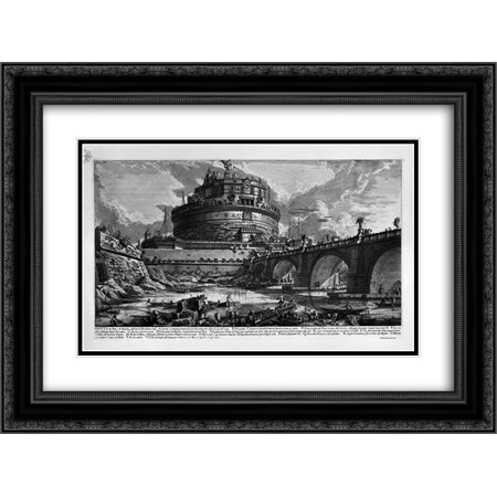 Giovanni Battista Piranesi 2x Matted 24x20 Black Ornate Framed Art Print 'The Roman antiquities, t. 4, Plate III. Table of Contents Volume in this (The Art Of Seduction Table Of Contents)