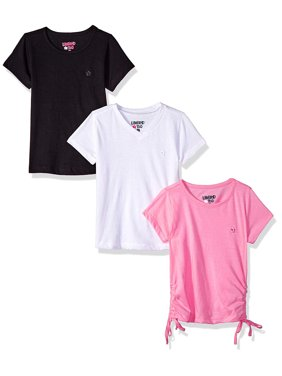 Ruched, V-neck and Crew Tees, 3-Pack (Little Girls & Big Girls)