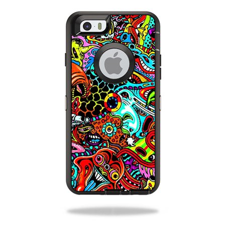 best website 4f29e 7aab1 MightySkins Protective Vinyl Skin Decal for OtterBox Defender iPhone 6/6S  Case wrap cover sticker skins Acid Trippy