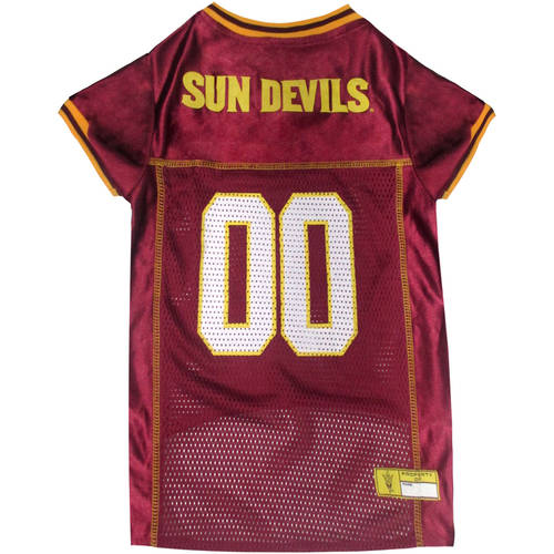 Pets First College Arizona State Sun Devils Collegiate Dog Jersey, Available in Various Sizes