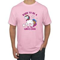 Born to be a Unicorn Mens Fashion Graphic T-Shirt