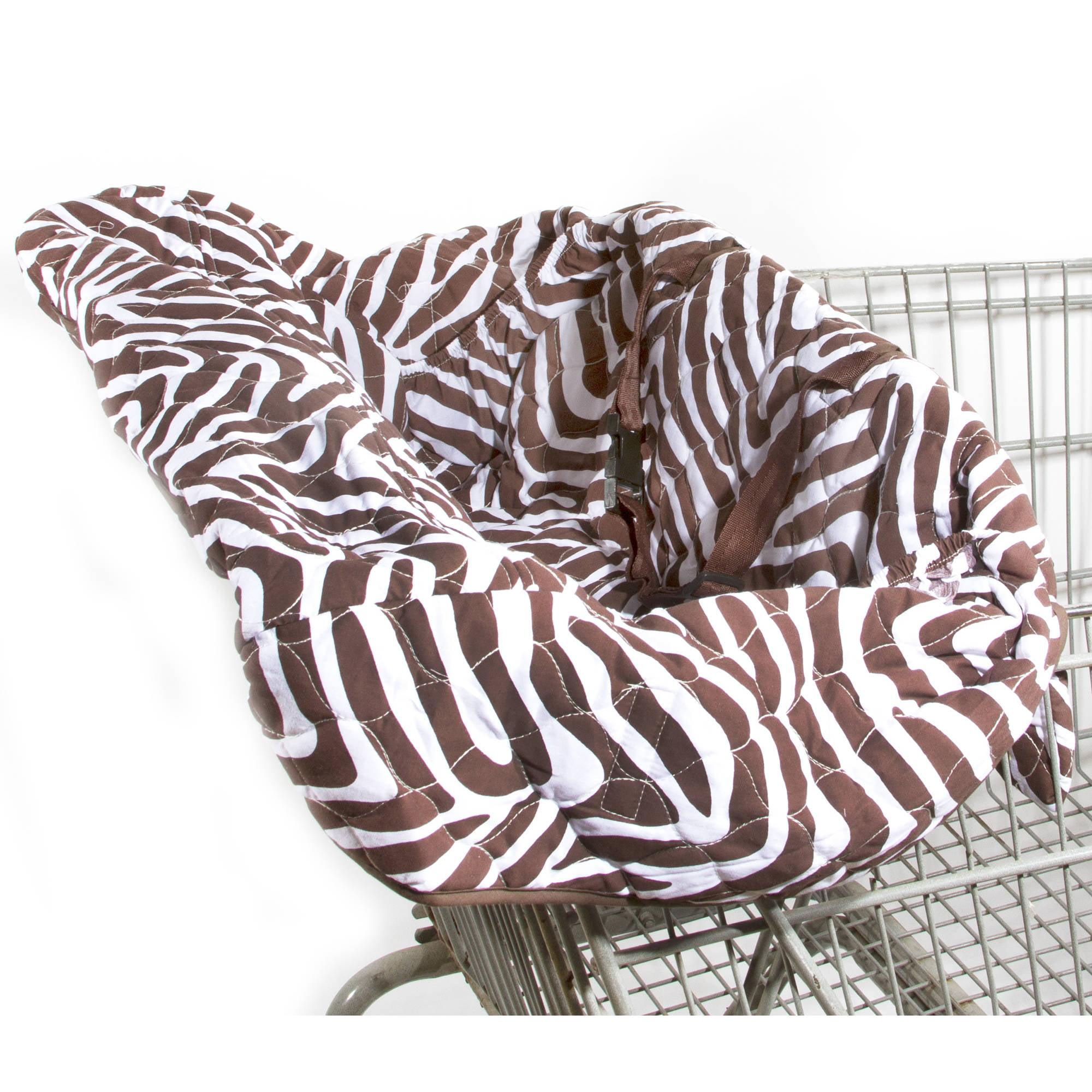 Zara Zebra Grocery Cart Covers