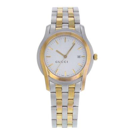 c72b758151a Gucci - 5500 XL YA055216 Stainless Steel Gold Plated Quartz Men s ...