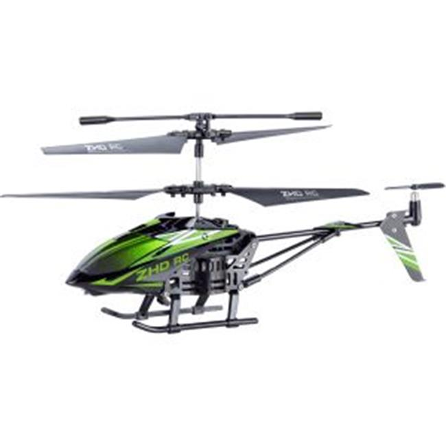 Microgear EC10401-Green Remote Control RC Metal Gyro 3.5 Channel Helicopter