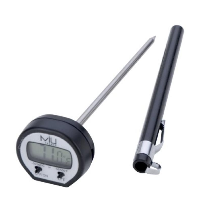 MIU France Instant Read Digital Cooking Thermometer, Black