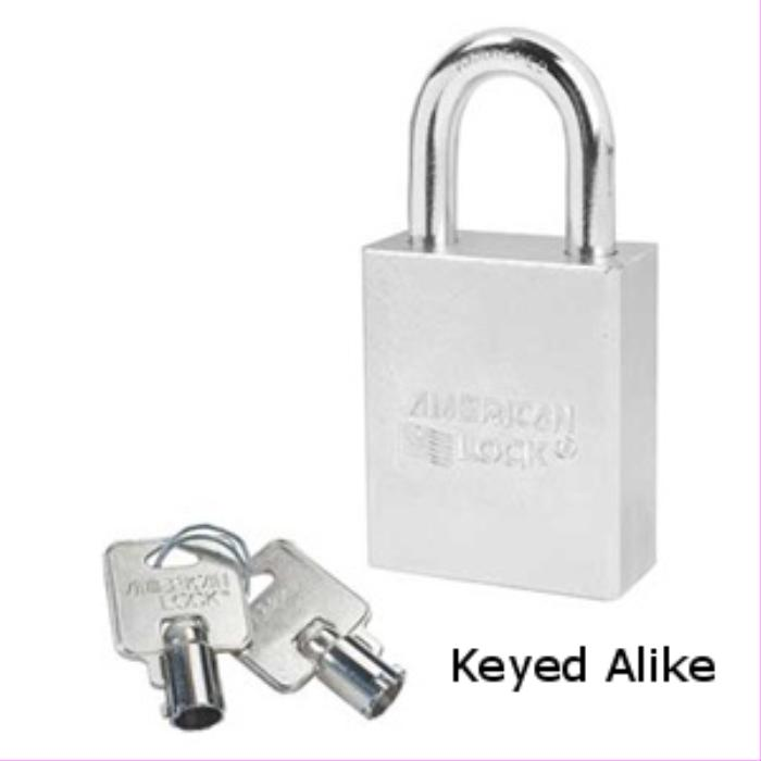 "American Lock A7200KA Tubular Padlock, 1 1/8"" Shackle Keyed Alike"
