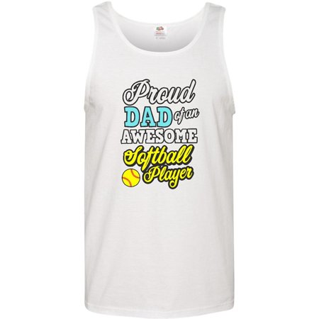 Proud Dad of an Awesome Softball Player Men's Tank (Top Softball Players)