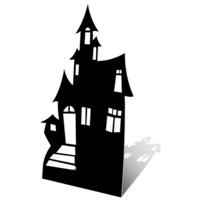Star Cutouts SC51 Cut Out of Haunted House