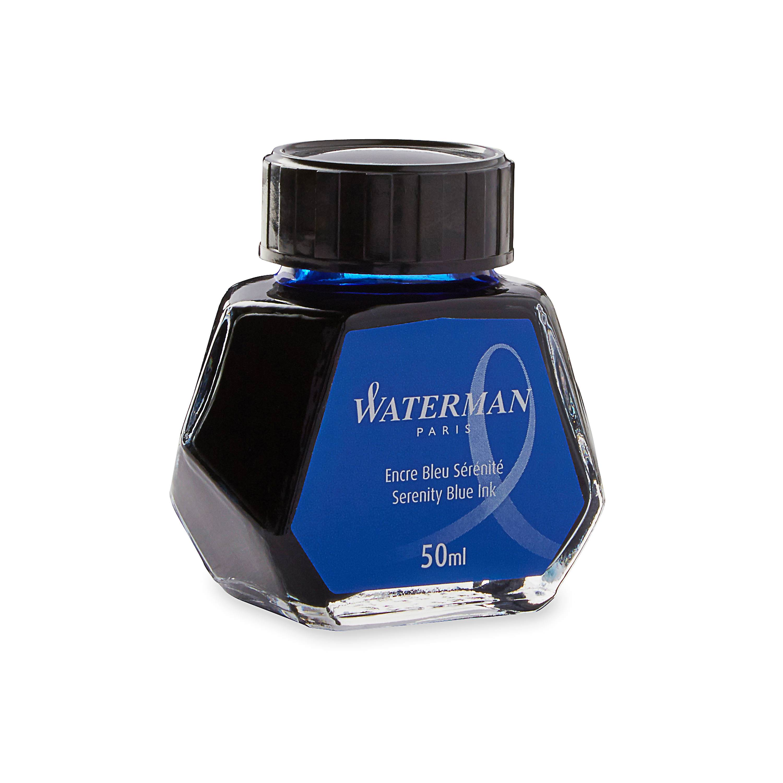 WATERMAN Fountain Pen Liquid Bottled Ink, 50ml, Serenity Blue (S0110720)