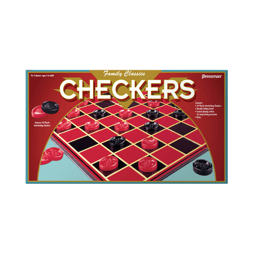 Pressman Checkers Board Games by Pressman Toy