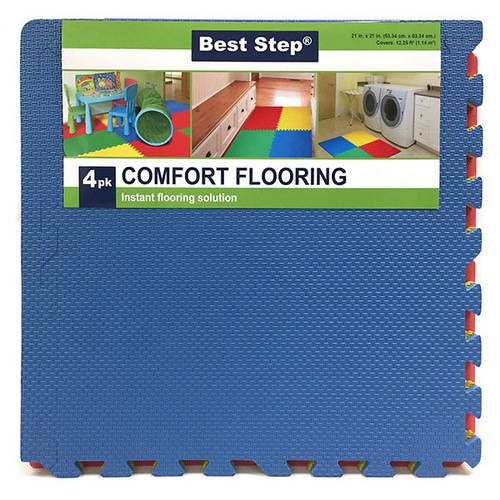 Venture Products Best Step Interlocking Floor Mats with Finishing Borders, 4pk