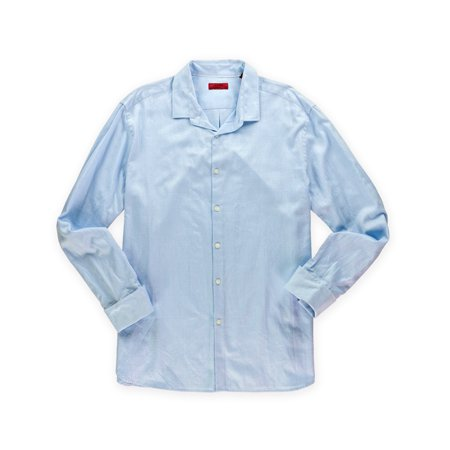 Alfani mens slim fit button up dress shirt for Fitted button up shirts mens