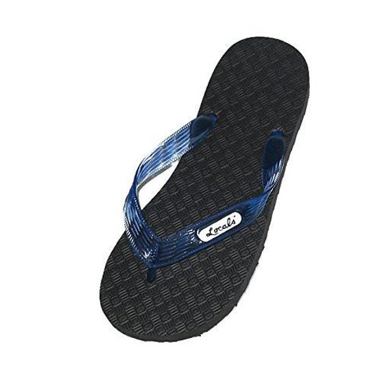 189aa24022f Locals - Locals Black with Blue Strap Slipper - Walmart.com