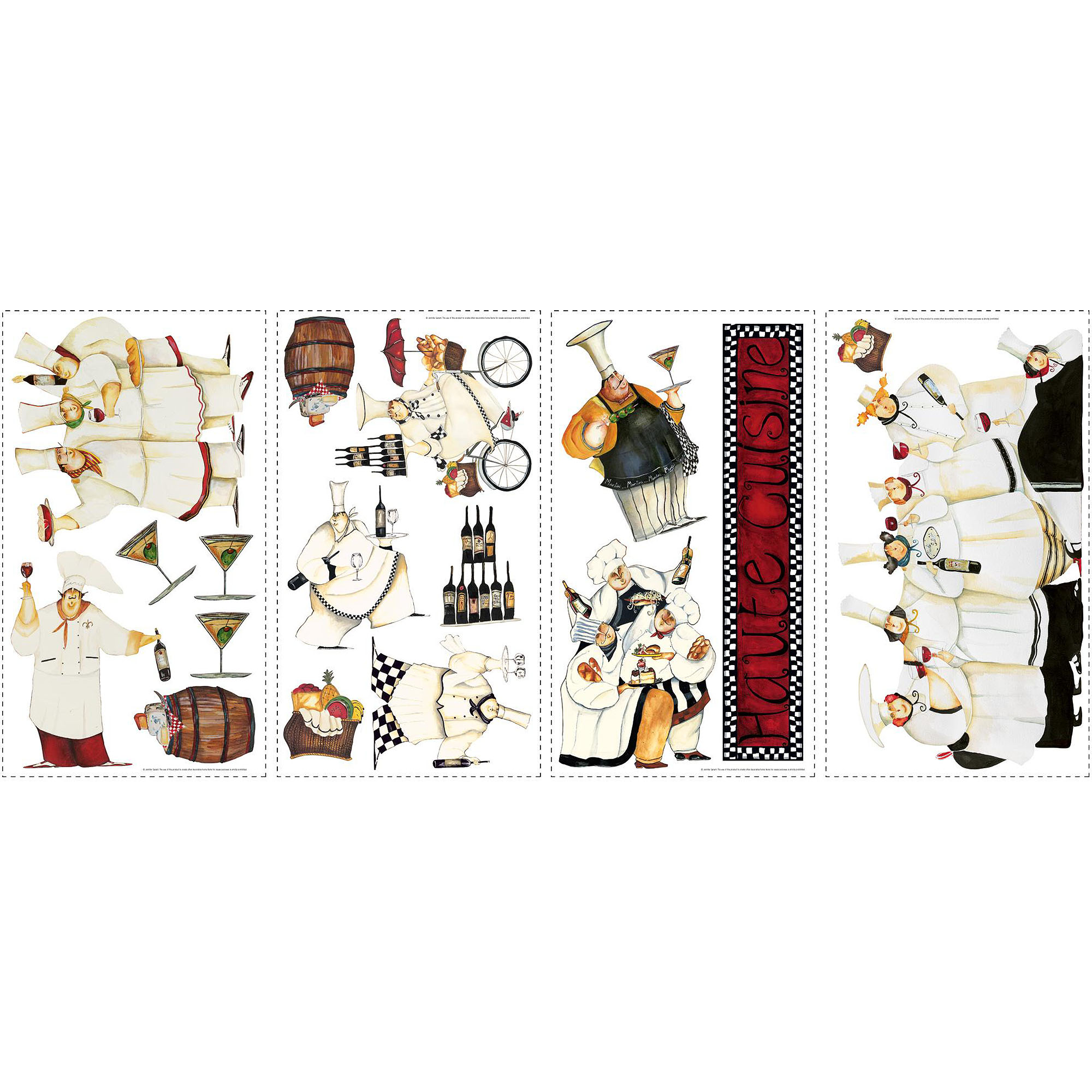 roommates chefs peel and stick wall decals walmart com
