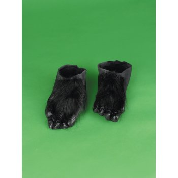 HAIRY FEET-BLACK ADULT](Costume Feet)