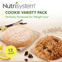 Nutrisystem Cookie Variety Pack (12 ct Pack) - Delicious, Diet Friendly Snacks Perfectly Portioned For Weight Loss