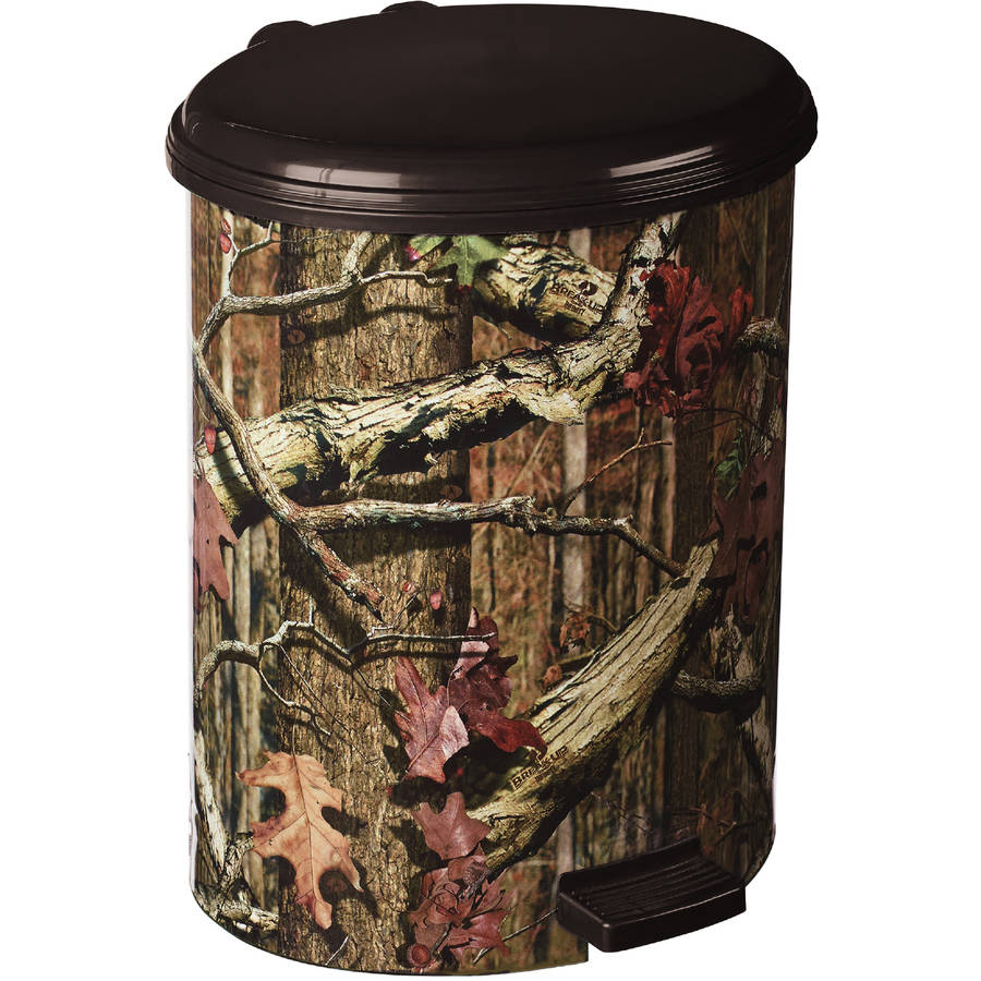 Mossy Oak Break Up Infinity Step 10-Liter Trash Can by Lifetime Brands