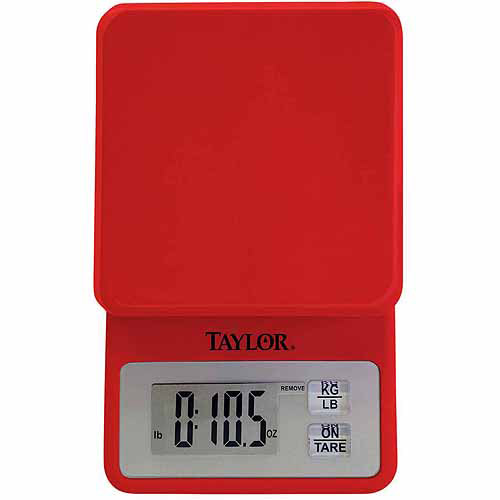Taylor Compact Kitchen Scale, Red