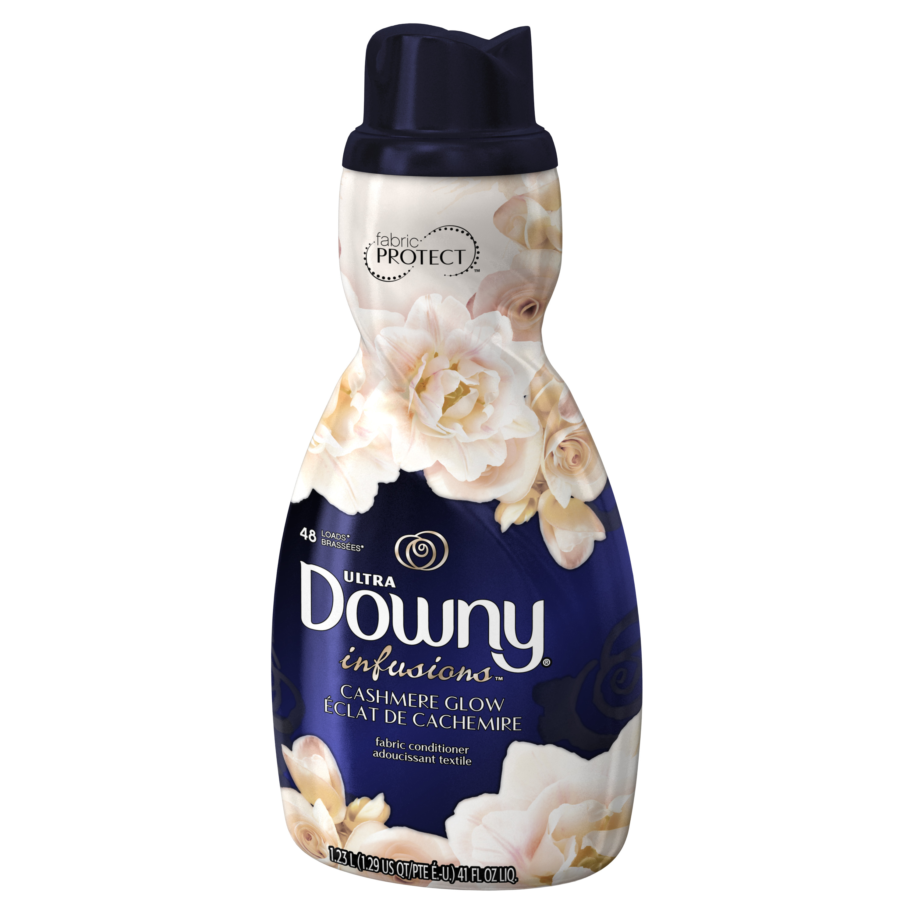 Downy Ultra Infusions Liquid Fabric Conditioner, Cashmere Glow, 48 Loads, 41 fl oz