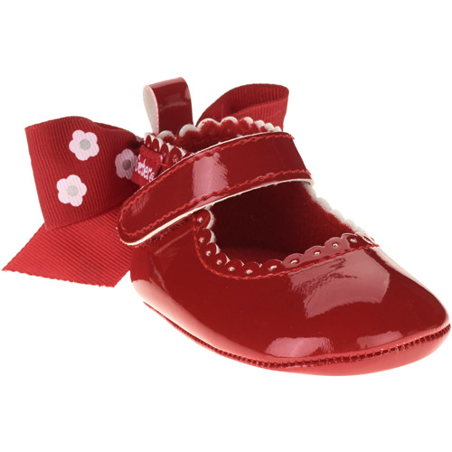 Gerber Newborn Girl Bow-Back Soft-Sole Mary Jane Shoes