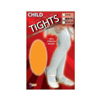 CHILD TIGHTS-ORANGE-MEDIUM - Halloween Orange Striped Tights