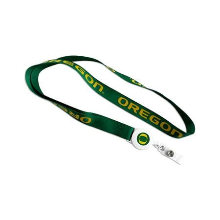 Oregon Ducks Badge Reel Lanyard Keychain NCAA Id Ticket Holder (Oregon Ducks Lanyard)