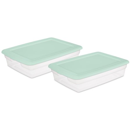 Sterilite 28 Qt./26 L Storage Box, Set of 2
