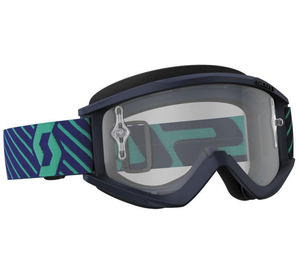 2018 Scott Recoil XI Adult Goggles -BLUE/TEAL- Clear Lens - MX Dirt Bike ATV