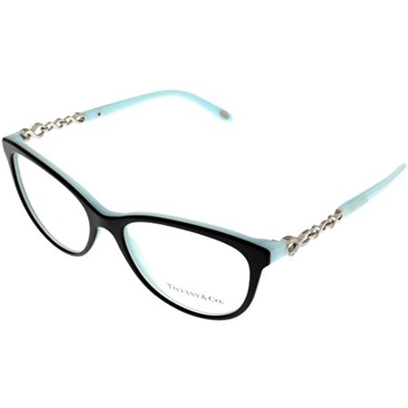 Tiffany & Co Prescription Eyewear Frames Womens Cateye Black Blue TF2120B 8055 Size: Lens/ Bridge/ Temple: (Tiffany And Co Prescription Sunglasses)