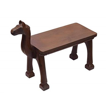 storeindya Thanksgiving Gifts Cute Wooden Bench Furniture for Entryway Outdoor Toy Chair Garden Nursery Home Playground (Animal Faced) ()